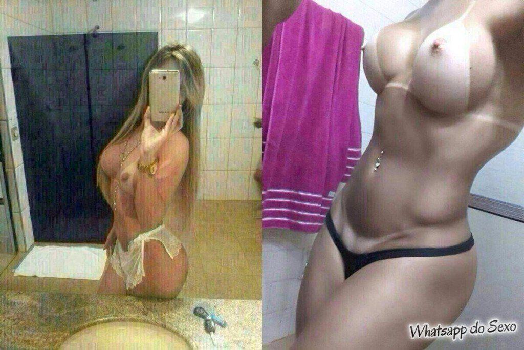 Loira turbinada tirando selfie porno pro amante