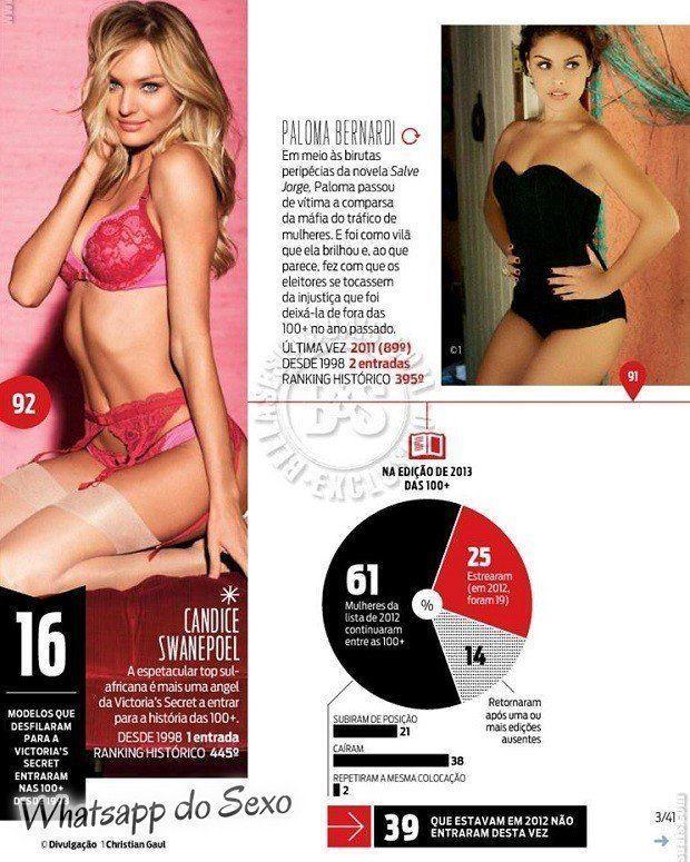 Gostosa Paolla Oliveira posando para a revista como a mulher mais sexy do mundo (5)