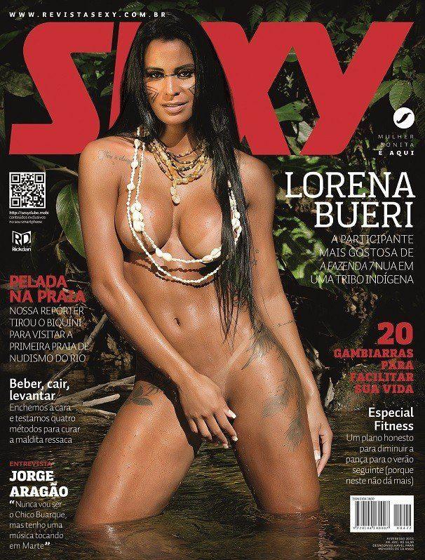 Revista Sexy Fevereiro de 2015 Lorena Bueri peladinha como índia