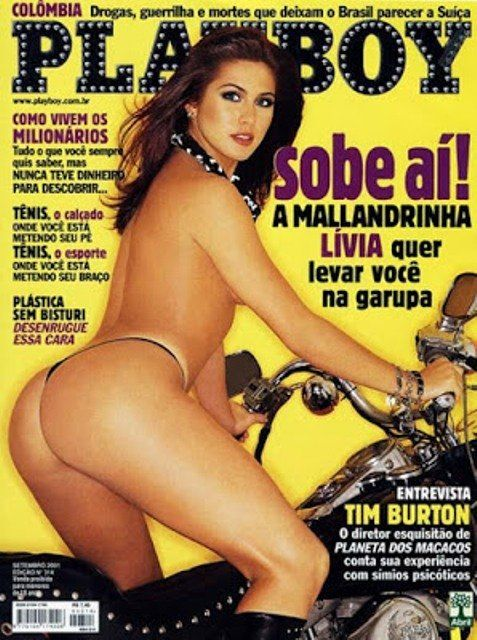 PlayBoy setembro de 2001 – Lívia Andrade peladinha