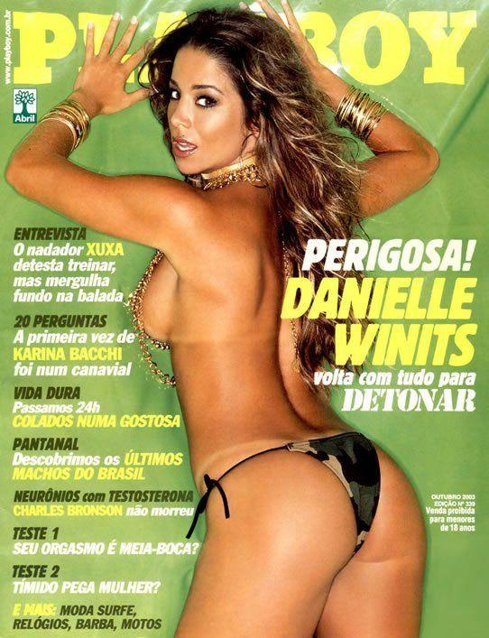 Danielle Winits pelada na revista Playboy outubro de 2003