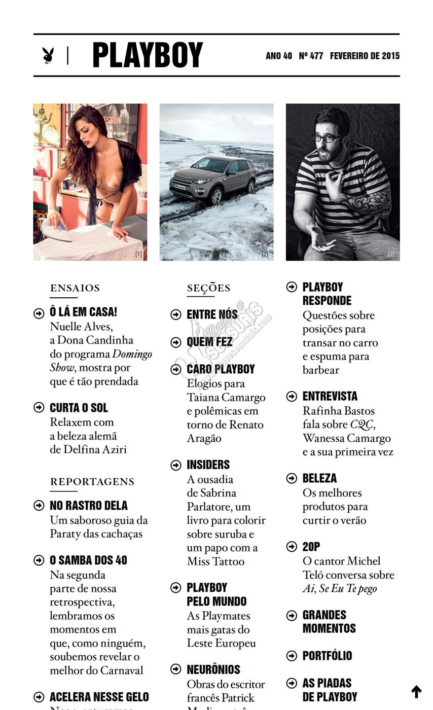 Revista playboy Fevereiro de 2015 - Nuelle Alves (Dona Candinha pelada)