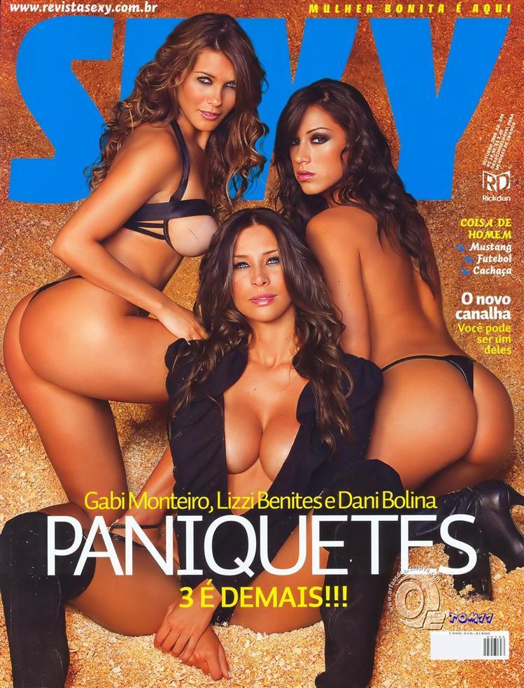 Gostosas do Pânico pelada na revista Sexy outubro de 2008