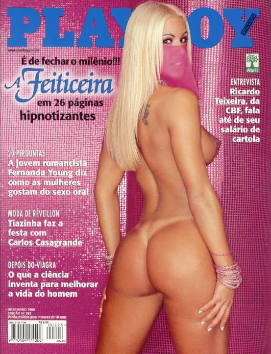 A feiticeira (Joana Prado) na playboy dezembro de 1999