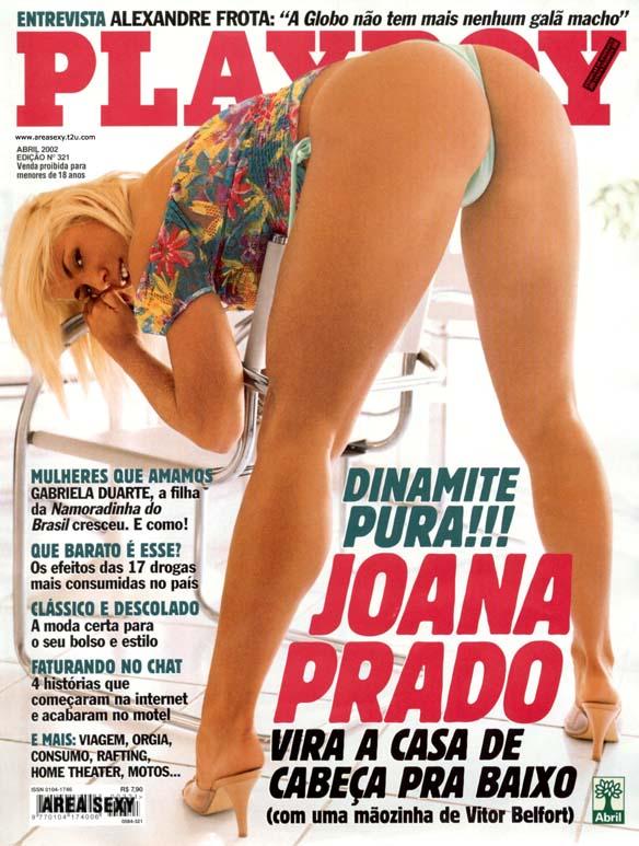 Joana Prado nua com o marido na playboy abril de 2002