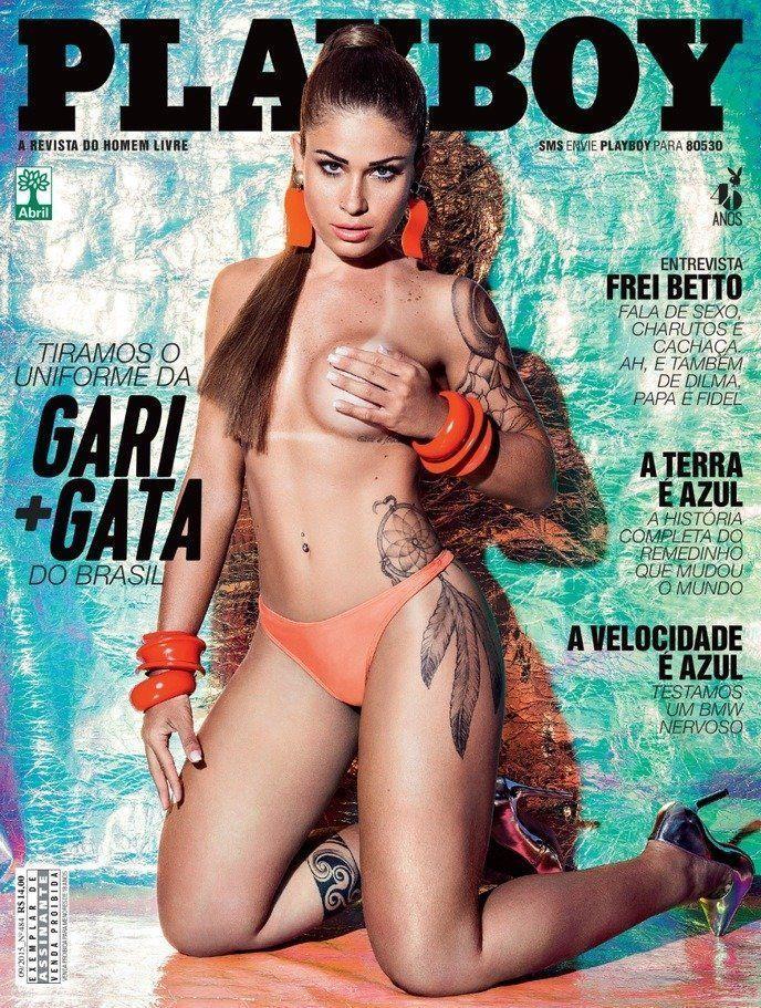Playboy Setembro 2015 Rita Mattos a Gari gata pelada