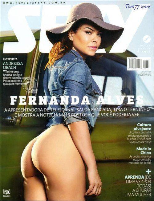 Revista Sexy Outubro 2015 Fernanda Alves nua