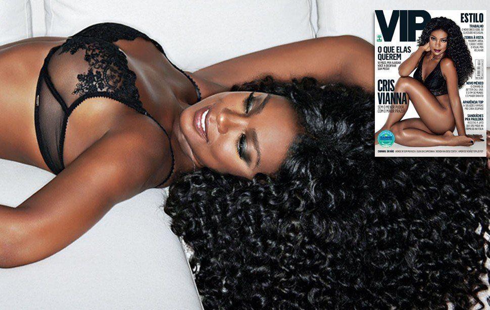 Cris Vianna pelada na revista vip fevereiro de 2016