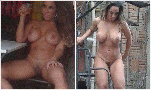 Mulher melão nua na favela caiu na net